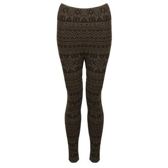 View Item Green Knitted Aztec Leggings